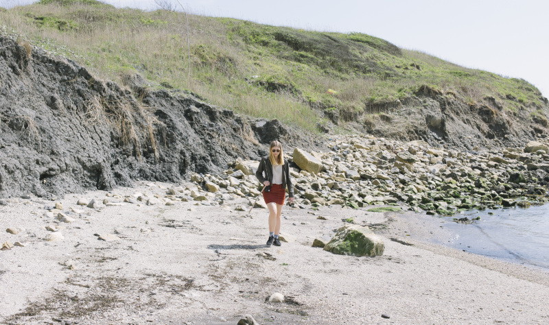 Fossil-hunting on the beach