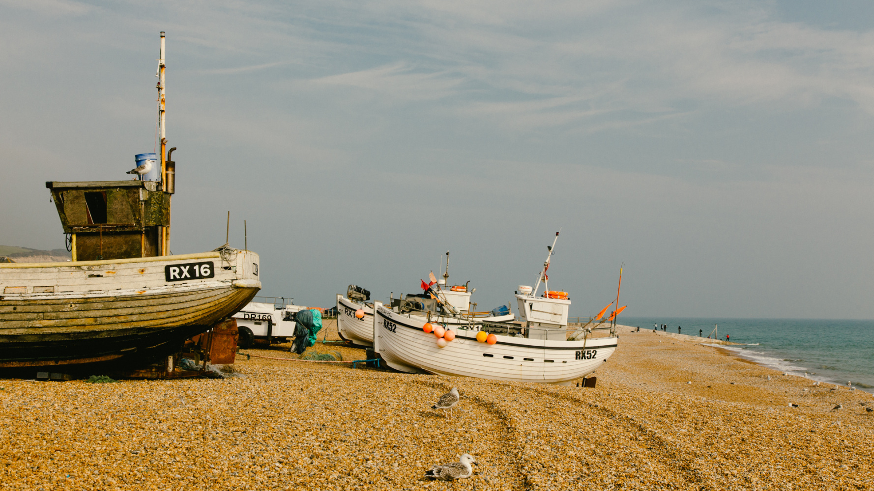 Fishing Boats on the pebble beach at Hastings